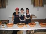 Preparing bruschette