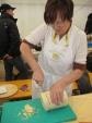Slicing into some formaggio grigio