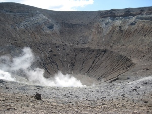 Staring down into Vulcano's volcano.