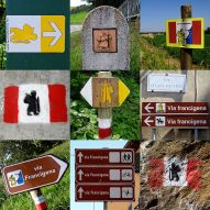 Some of the many trail markers the pilgrim encounters