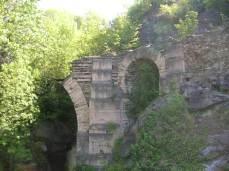 Remains of Roman bridge at Saint Vincent