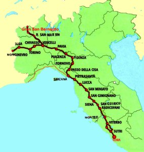 Via Francigena (the Italian part)