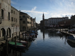 Chioggia, on the way to Venice from the delta