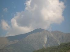 Mount Zerbion presiding over Saint Vincent
