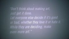 Andy Warhol's words of inspiration